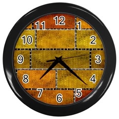 Classic Color Bricks Gradient Wall Wall Clocks (Black)