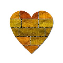 Classic Color Bricks Gradient Wall Heart Magnet