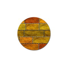 Classic Color Bricks Gradient Wall Golf Ball Marker