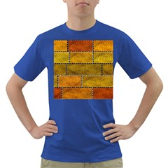 Classic Color Bricks Gradient Wall Dark T Shirt