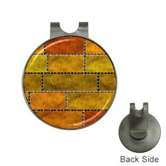 Classic Color Bricks Gradient Wall Hat Clips with Golf Markers