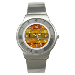 Classic Color Bricks Gradient Wall Stainless Steel Watch