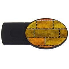 Classic Color Bricks Gradient Wall Usb Flash Drive Oval (4 Gb)