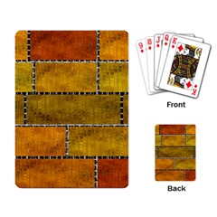Classic Color Bricks Gradient Wall Playing Card