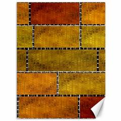 Classic Color Bricks Gradient Wall Canvas 36  x 48