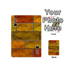 Classic Color Bricks Gradient Wall Playing Cards 54 (mini)