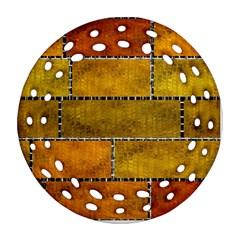 Classic Color Bricks Gradient Wall Ornament (round Filigree)