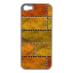 Classic Color Bricks Gradient Wall Apple iPhone 5 Case (Silver)