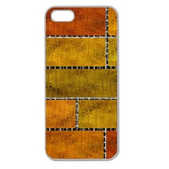 Classic Color Bricks Gradient Wall Apple Seamless iPhone 5 Case (Clear)