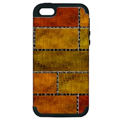 Classic Color Bricks Gradient Wall Apple iPhone 5 Hardshell Case (PC+Silicone)