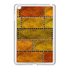 Classic Color Bricks Gradient Wall Apple iPad Mini Case (White)