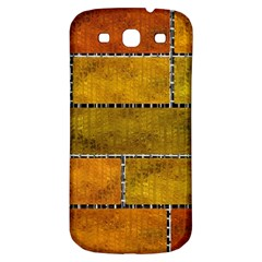 Classic Color Bricks Gradient Wall Samsung Galaxy S3 S III Classic Hardshell Back Case