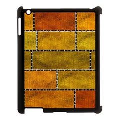 Classic Color Bricks Gradient Wall Apple iPad 3/4 Case (Black)
