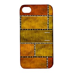 Classic Color Bricks Gradient Wall Apple iPhone 4/4S Hardshell Case with Stand