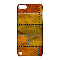 Classic Color Bricks Gradient Wall Apple iPod Touch 5 Hardshell Case with Stand