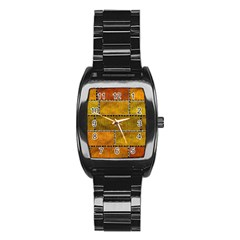 Classic Color Bricks Gradient Wall Stainless Steel Barrel Watch