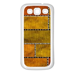 Classic Color Bricks Gradient Wall Samsung Galaxy S3 Back Case (white)