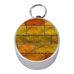 Classic Color Bricks Gradient Wall Mini Silver Compasses