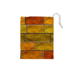 Classic Color Bricks Gradient Wall Drawstring Pouches (Small)