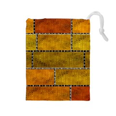 Classic Color Bricks Gradient Wall Drawstring Pouches (Large)