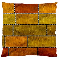 Classic Color Bricks Gradient Wall Large Flano Cushion Case (One Side)