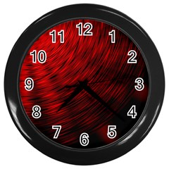A Large Background With A Burst Design And Lots Of Details Wall Clocks (Black)