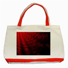 A Large Background With A Burst Design And Lots Of Details Classic Tote Bag (red)