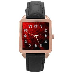 A Large Background With A Burst Design And Lots Of Details Rose Gold Leather Watch
