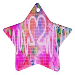 Watercolour Heartbeat Monitor Ornament (star)