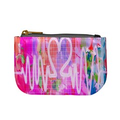 Watercolour Heartbeat Monitor Mini Coin Purses
