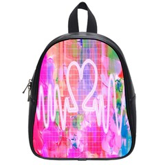 Watercolour Heartbeat Monitor School Bags (small)