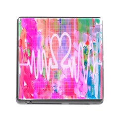 Watercolour Heartbeat Monitor Memory Card Reader (square)