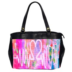 Watercolour Heartbeat Monitor Office Handbags (2 Sides)
