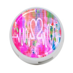 Watercolour Heartbeat Monitor 4 Port Usb Hub (two Sides)