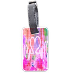 Watercolour Heartbeat Monitor Luggage Tags (Two Sides)