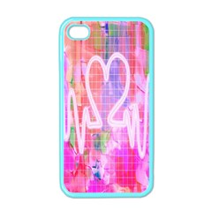 Watercolour Heartbeat Monitor Apple iPhone 4 Case (Color)