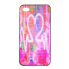 Watercolour Heartbeat Monitor Apple iPhone 4/4s Seamless Case (Black)