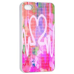 Watercolour Heartbeat Monitor Apple iPhone 4/4s Seamless Case (White)