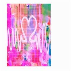 Watercolour Heartbeat Monitor Large Garden Flag (Two Sides)
