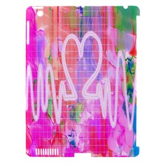Watercolour Heartbeat Monitor Apple iPad 3/4 Hardshell Case (Compatible with Smart Cover)