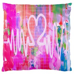 Watercolour Heartbeat Monitor Large Cushion Case (Two Sides)