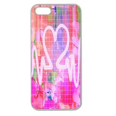 Watercolour Heartbeat Monitor Apple Seamless iPhone 5 Case (Clear)
