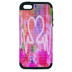 Watercolour Heartbeat Monitor Apple iPhone 5 Hardshell Case (PC+Silicone)