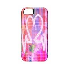 Watercolour Heartbeat Monitor Apple iPhone 5 Classic Hardshell Case (PC+Silicone)