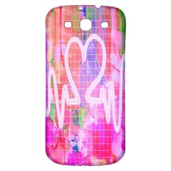 Watercolour Heartbeat Monitor Samsung Galaxy S3 S III Classic Hardshell Back Case