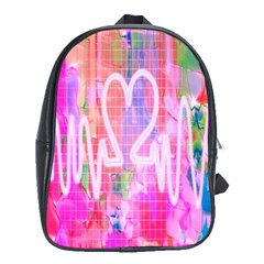 Watercolour Heartbeat Monitor School Bags (XL)