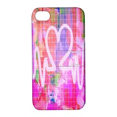 Watercolour Heartbeat Monitor Apple iPhone 4/4S Hardshell Case with Stand
