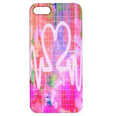 Watercolour Heartbeat Monitor Apple iPhone 5 Hardshell Case with Stand