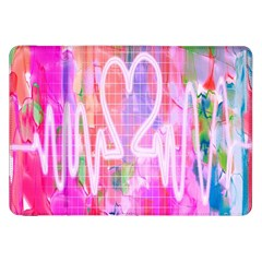 Watercolour Heartbeat Monitor Samsung Galaxy Tab 8.9  P7300 Flip Case