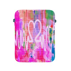 Watercolour Heartbeat Monitor Apple iPad 2/3/4 Protective Soft Cases